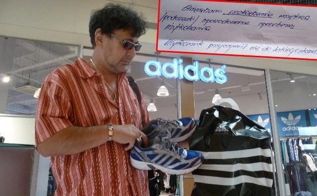 Uważaj na buty firmy Adidas! Zobacz jak potraktowali klienta