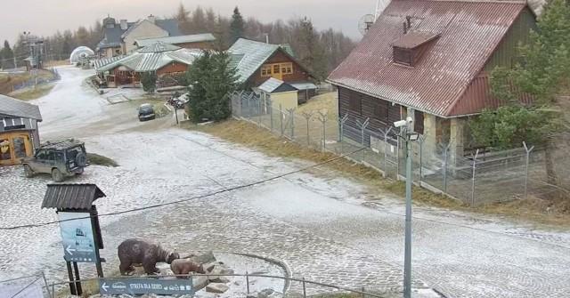Mamy pierwszy w tym sezonie śnieg na Jaworzynie Krynickiej