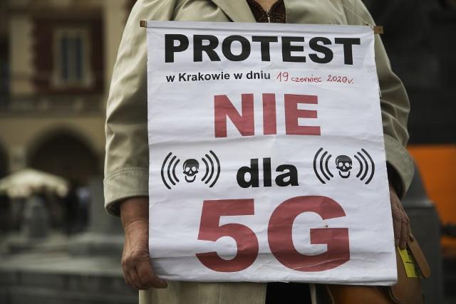 Protest przeciwko 5G
