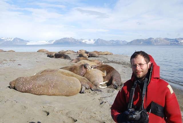 Rafał Maszewski na Spitsbergenie