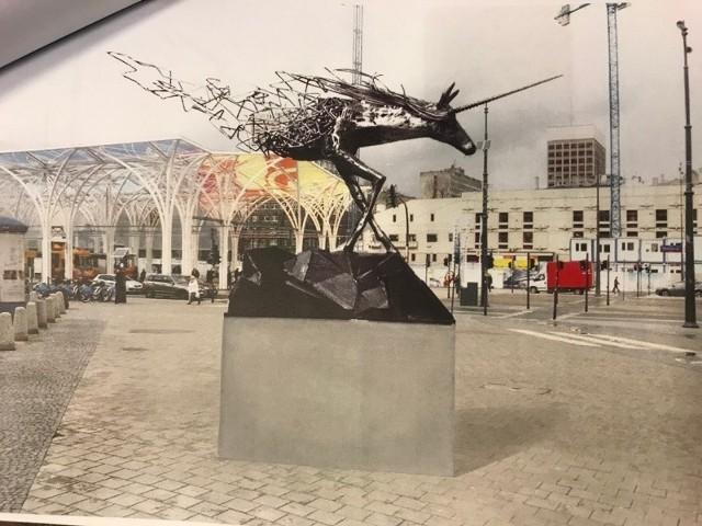 Pomnik ma stać przy Centralu, obok Przesiadkowa, czyli Stajni Jednorożców.