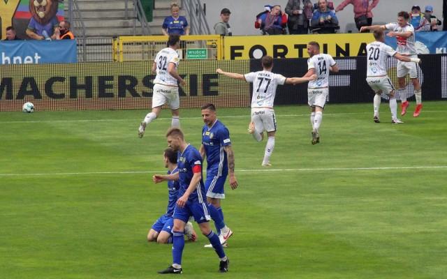 15.05.2021. W poprzedniej kolejce GKS Tychy wygrał z Miedzią w Legnicy 3:2.