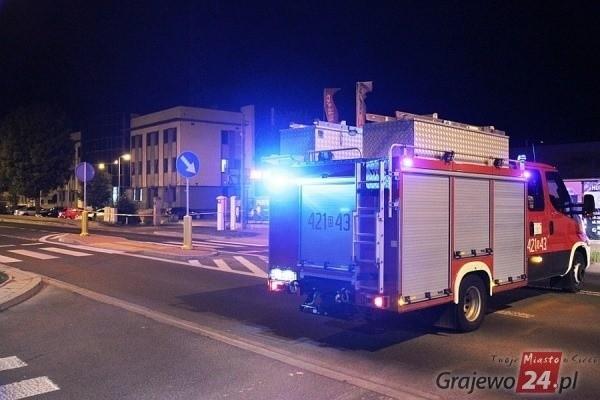 Alarm bombowy przed siedzibą straży pożarnej i policji w Grajewie. Mężczyzna uciekał kradzionym samochodem [3 wrzesień 2019]