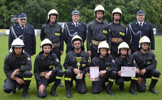 Zwycięska drużyna OSP z Łaganowa