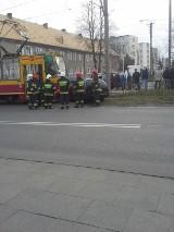 Wypadek w Ozorkowie:Ford kontra tramwaj