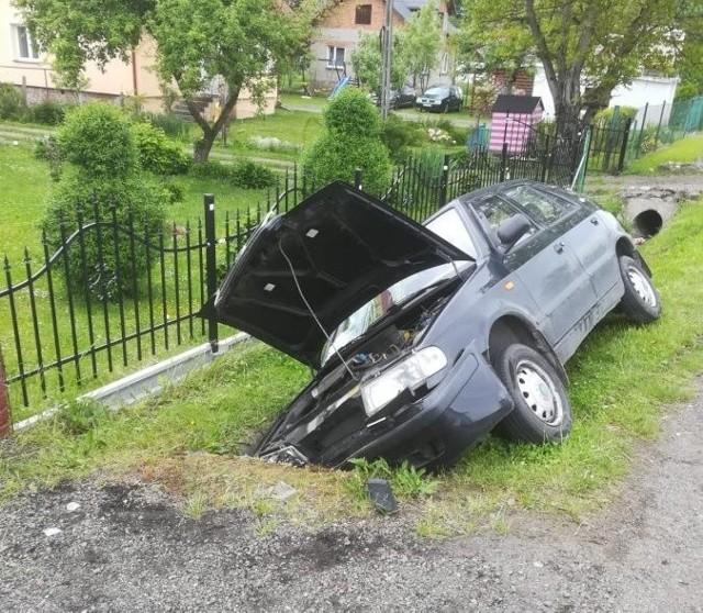 Miejsce wypadku.
