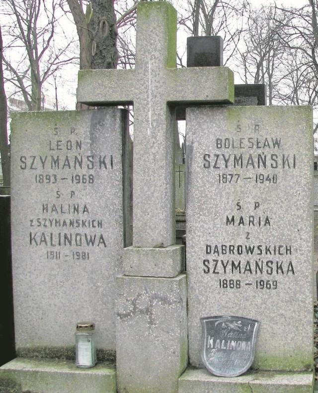 Grób rodzinny Szymańskich z symbolicznym pochówkiem Bolesława Szymańskiego na warszawskich Powązkach