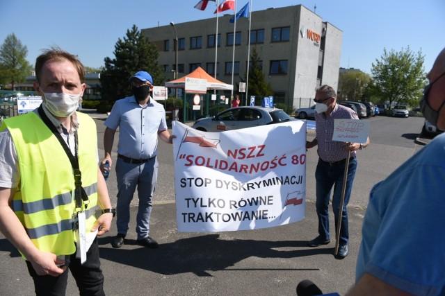 Tak wyglądał protest pod siedzibą WORD Toruń.