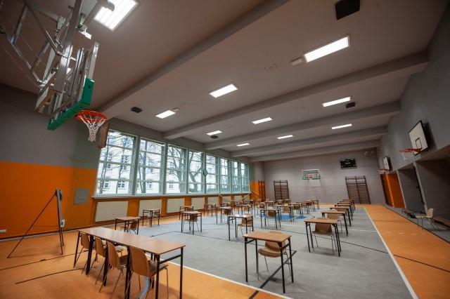 Sala gimnastyczna w koszalińskim Ekonomie po remoncie