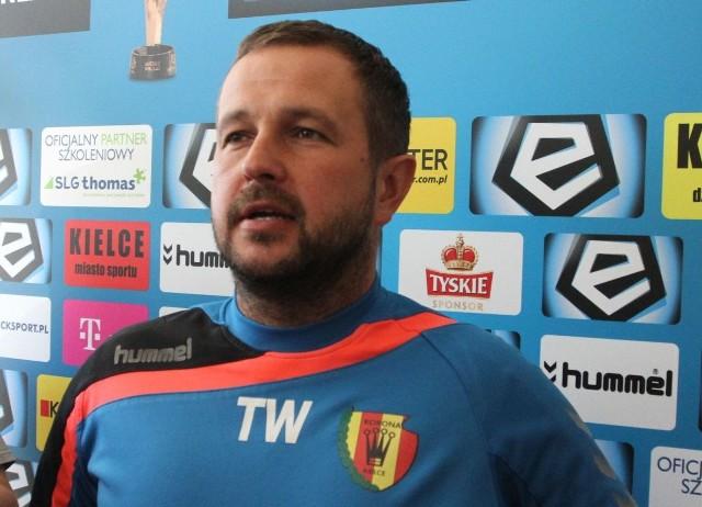Trener Korony Kielce Tomasz Wilman.