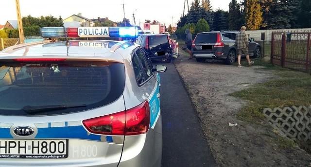 Wypadek na ul. Słowackiego w Przasnyszu. 14.07.2019