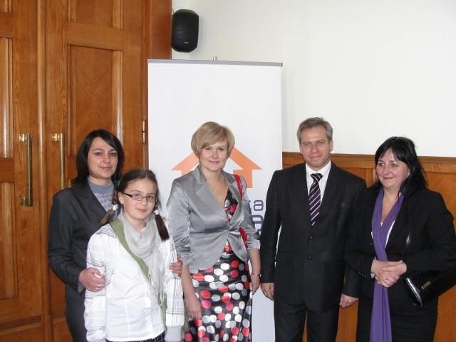 Przedstawiciele szkoły w Moszczance w Ministerstwie Edukacji Narodowej.