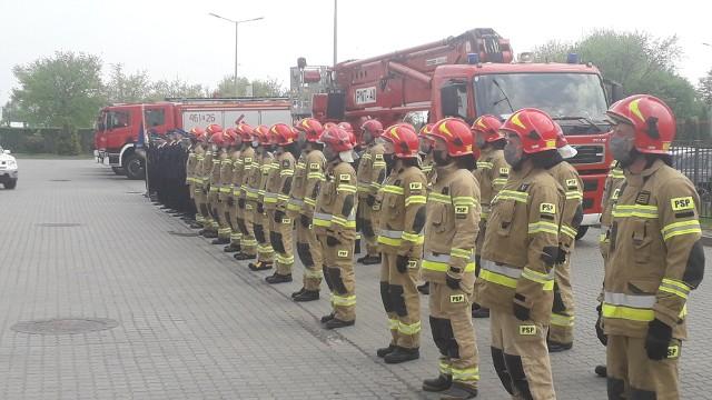 W piatek, 14 maja, w Komendzie Powiatowej Państwowej Straży Pożarnej w Inowrocławiu odbyła się uroczysta zbiórka z okazji Dnia Strażaka.