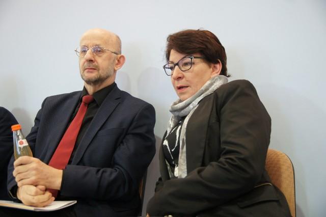 Celina Margowniczy - główna organizatorka imprezy i burmistrz Sławy Cezary Sadrakuła - honorowy patron przedsięwzięcia
