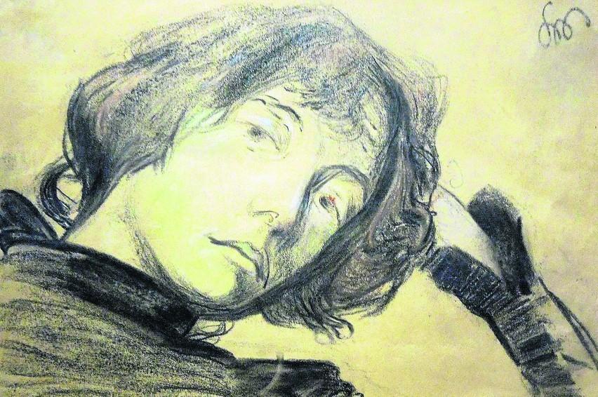 Portret Dagny Juel-Przybyszewskiej z 1899 r., autorstwa Stanisława Wyspiańskiego