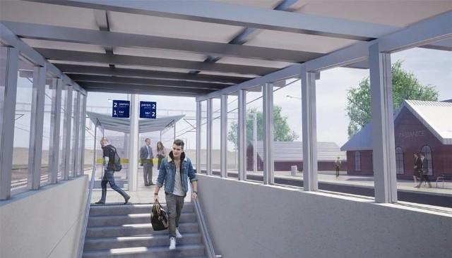 Pasażerowie z Pabianic mogą już korzystać z nowo wybudowanego przejścia podziemnego, o ile oczywiście nie jadą autobusem zastępczym..