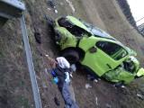LUBUSKIE. Autostrada A2 zablokowana. Dachował bus przewożący 9 osób. Jedna zginęła, 7 jest rannych