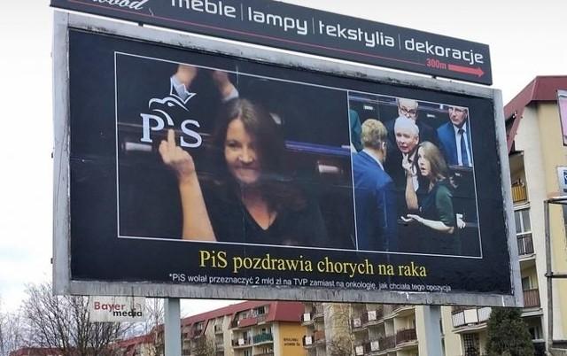 bilboard, Lichocka, zbiórka, baner, wybory, gest Lichockiej.