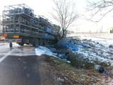 Wypadek pod Strykowem. Tiry zderzyły się na dk 14 [ZDJĘCIA]