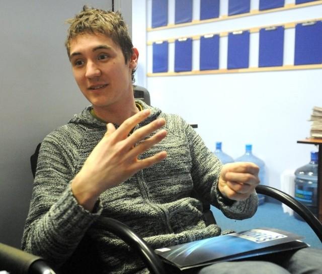 Mikołaj Komór, jeden z pomysłodawców konkursu na piosenkę o Szczecinie.