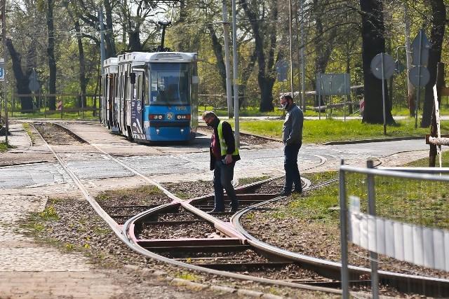 Przebudowa pętli tramwajowej na Osobowicach.