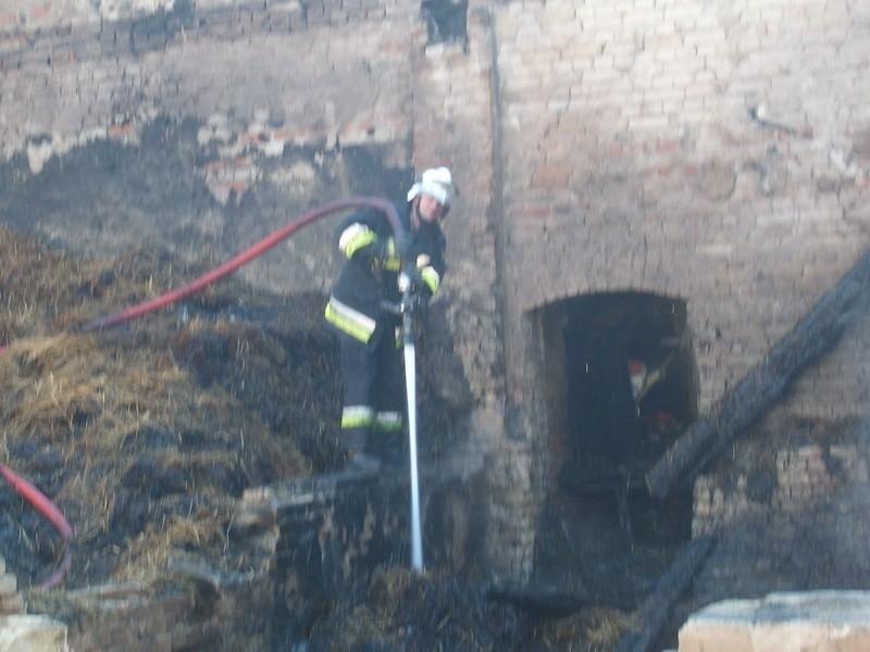 Pożar w Starej Dąbrowie. Zdjęcia na adres alarm@gs24.pl przesłał nam GREG.