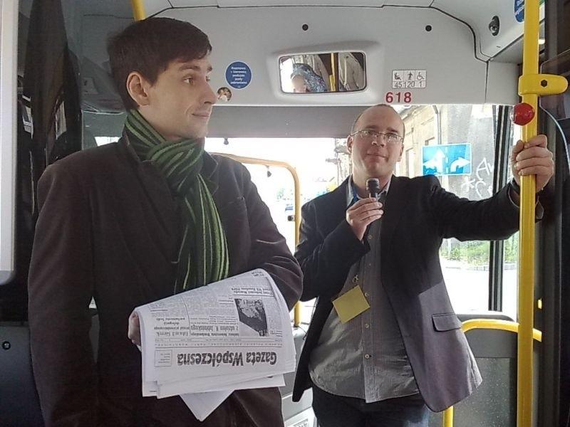 Maciej Białous i Radosław Poczykowski z Uniwersytetu w Białymstoku, współorganizatorzy wycieczki