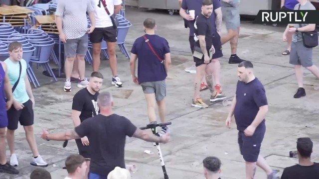 Liga Mistrzów. Bójka pseudokibiców przed finałem Ligi Mistrzów. Musiała interweniować policja   Gol24