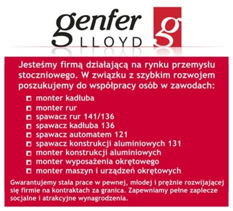 separation shoes 70c79 bb629 Genfer Lloyd ZATRUDNI (reklama firmy) | Głos Szczeciński