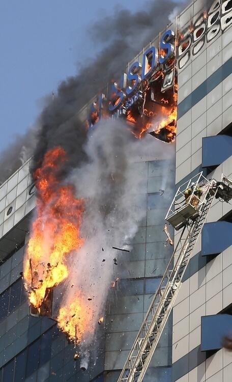Pożar siedziby firmy Samsung w Korei Południowej. Urządzenia z problemami