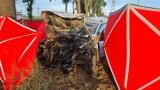Śmiertelny wypadek na drodze między Czaczem i Przysieką Polską. Samochód uderzył w drzewo, zginął 23-letni mężczyzna