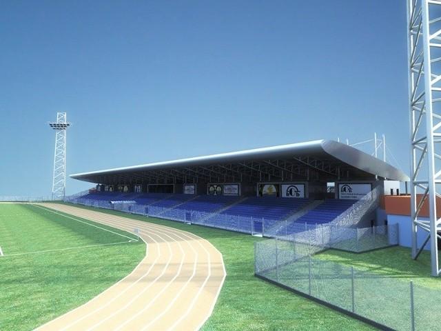 Tak ma wyglądać jedna z wyremontowanych trybun stadionu w Mielcu.