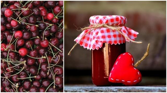 Na dżem czereśniowy powinniśmy wybierać owoce dojrzałe i słodkie.