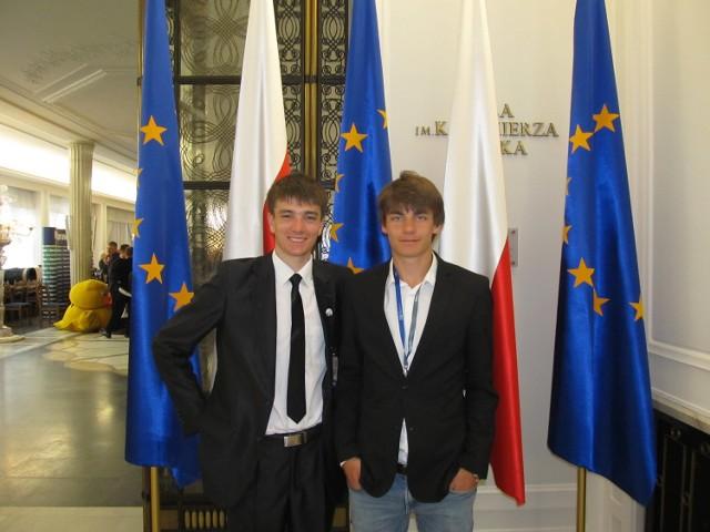 Zbąszyńscy młodzi posłowie w Sejmie