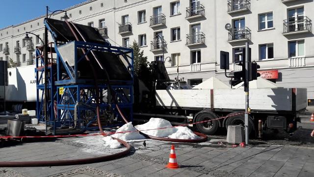 Firma AARSLEFF prowadzi renowację kanalizacji przy ulicy Lipowej w Białymstoku
