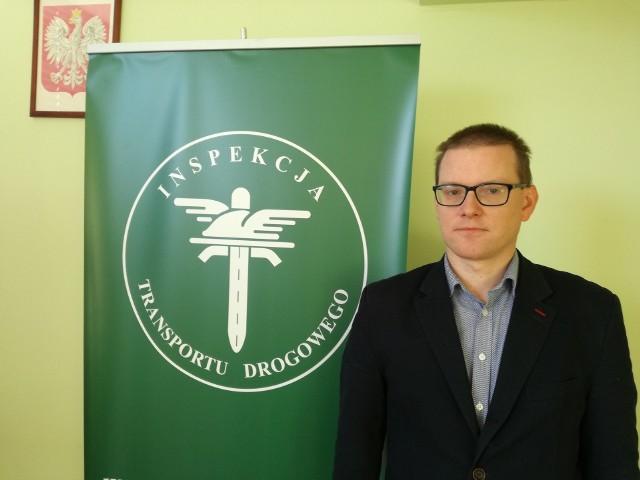 Paweł Gruszka jest naczelnikiem wydziału inspekcji Wojewódzkiego Inspektoratu Transportu Drogowego w Lublinie