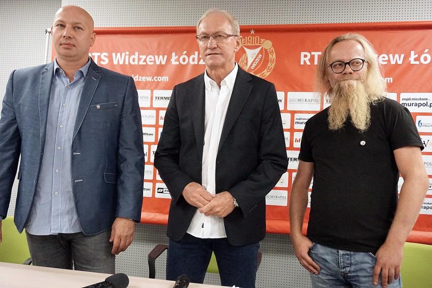 Prezes Przemysław Klementowski, trener Franciszek Smuda, prezes Michał Sapota