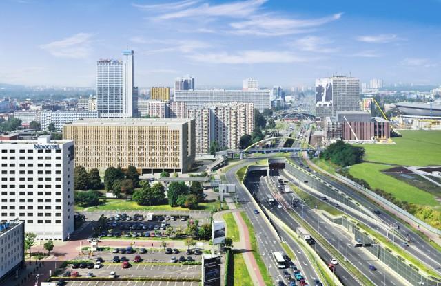 Biurowiec LC Corp w Katowicach przy DTŚ. W pierwszym etapie powstał 8- piętrowy budynek biurowy z garażem podziemnym oraz częścią handlowo- usługową.Zakończenie prac ostatni kwartał 2014 roku, otwarcie w 2015.