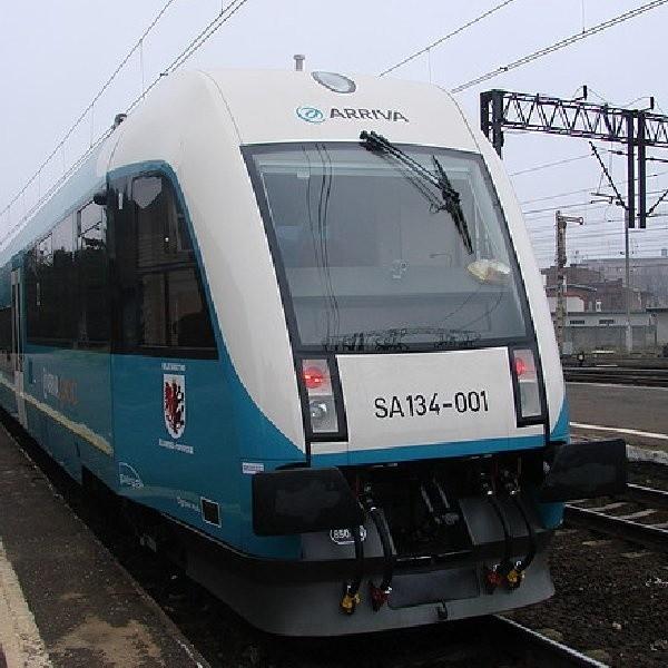 Oto jeden z pociągów Arrivy - pociąg SA 134