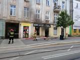 Pożar sklepu obuwniczego na Kopernika w Łodzi