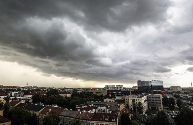 Burza nad Rzeszowem.