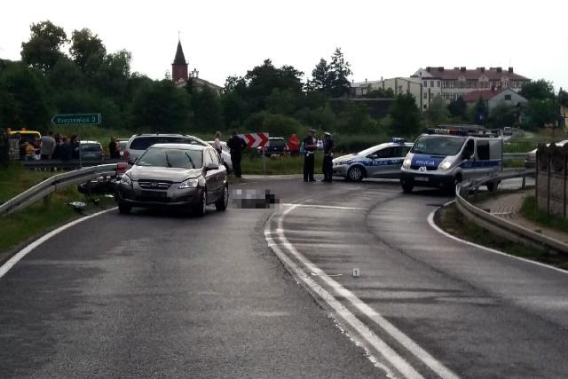 Śmiertelny wypadek motocyklisty w miejscowości Strzelce Małe w powiecie radomszczańskim