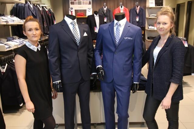 Męska elegancja teraz w dobrej cenieW salonie Kubenz teraz do każdego garnituru gratis koszula i krawat.Prezentują B arbara i Klaudia, ekspedientki.