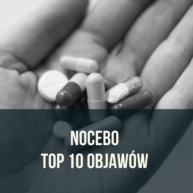 """Placebo zna każdy. A czym jest efekt NOCEBO? Jak go rozpoznać?Nocebo (łac. """"będę szkodzić"""") to negatywne, niepożądane objawy zjawiska zwanego placebo.W przypadku efektu placebo mamy do czynienia z pozytywnym efektem terapii, w której np. nie wykorzystuje się środków leczniczych, jednak pacjent ma przekonanie, że otrzymuje lek, a jego pozytywne nastawienie powoduje faktyczne ustąpienie objawów chorobowych. Efekt nocebo, czyli różne objawy uboczne najczęściej wywołane są przez negatywne nastawienie pacjenta do terapii czy też nieakceptowany przez niego wygląd leku.Pacjenci stosujący drogie terapie mogą odczuwać efekt nocebo w momencie zmiany leków na zawierające te same dawki substancji czynnych, ale tańsze zamienniki.Efekt nocebo to przeciwieństwo efektu placebo. Sprawdź 10 najczęstszych objawów nocebo na kolejnych slajdach >>>"""