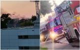 Kłęby dymu nad centrum Włocławka. Pożar w budynku na ulicy Krótkiej [zdjęcia]