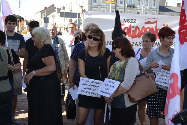 """Strajk w """"Amicusie"""". Głodówka zawieszona, ale okupacja już nie"""