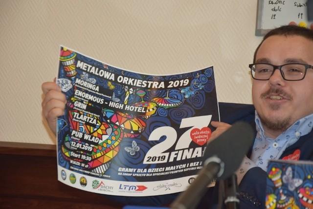 Krzysztof Ginter, szef chojnickiego sztabu Wielkiej Orkiestry Świątecznej Pomocy