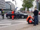 Wypadek dwóch samochodów przy Arkadach Wrocławskich [ZDJĘCIA]