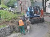 Rozpoczęło się zabezpieczanie osuwiska przy ul. Zjazdowej w Krośnie