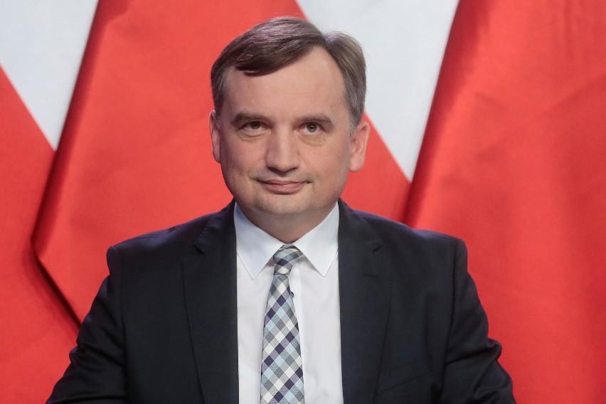 Konferencja ministra sprawiedliwości Zbigniewa Ziobry w...